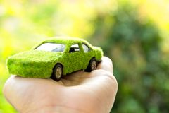 Eco car icon concept Royalty Free Stock Image