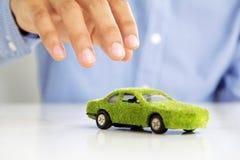 Eco car icon concept Stock Photo