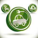 Eco car icon. Stock Image