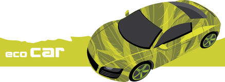 Eco car. Icon for design Stock Image