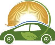 Eco car logo Stock Photos