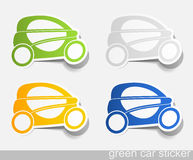 Eco car, realistic design elements Stock Photo