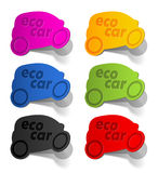 Eco car, realistic design elements Royalty Free Stock Images