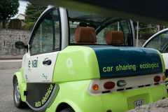 Eco car-sharing scheme, Italy. Stock Image