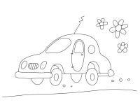 Eco-car  (vector) Royalty Free Stock Photo