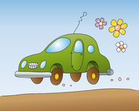 Eco-car  (vector) Royalty Free Stock Photos
