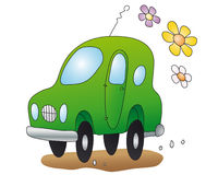 Eco-car  (vector) Royalty Free Stock Photo