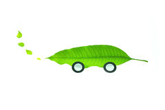 Eco car. Vehicles that are environmentally friendly Royalty Free Stock Images