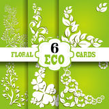 Eco cards set Stock Photo