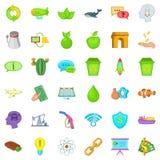Eco care icons set, cartoon style. Eco care icons set. Cartoon style of 36 eco care vector icons for web isolated on white background Stock Image