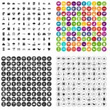 100 eco care icons set vector variant. 100 eco care icons set vector in 4 variant for any web design isolated on white Royalty Free Stock Photography