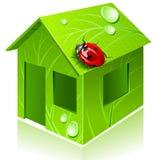 Eco-casa del vector Imagen de archivo libre de regalías