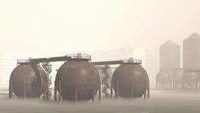 Eco-catástrofe Ilustración del Vector