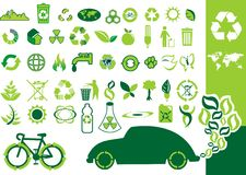 ECO.cdr. Vector environmental icons and design elements Stock Image