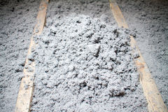 Eco cellulose insulation made from recycled paper royalty free stock photos