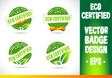 Eco certified Badge Vector Royalty Free Stock Photos