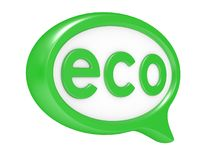 Eco chat bubbles Royalty Free Stock Photography