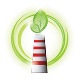 Eco chimney with plant Stock Photos