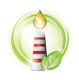 Eco chimney with oil drops Royalty Free Stock Photography