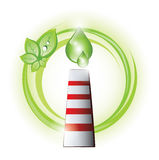 Eco chimney with oil drops Royalty Free Stock Photos