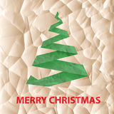 Eco Christmas greeting royalty free stock photography