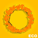 Eco Circle autumn Stock Photography