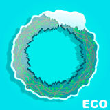 Eco Circle.Banner.Plant in the ice Royalty Free Stock Image