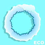 Eco Circle. Banner. Winter Stock Image