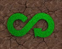 ECO and circular economy concept. Royalty Free Stock Photography