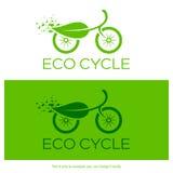 Eco cirkuleringslogo också vektor för coreldrawillustration Royaltyfri Bild