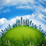 Eco City. Abstract environmental backgrounds for your design Stock Photos