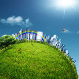 Eco City. Abstract environmental backgrounds for your design Royalty Free Stock Photos