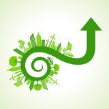 Eco city concept with arrow design Stock Photo