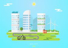 Eco city concept stock illustration