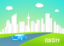 Eco city concept Stock Photos