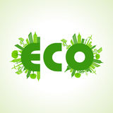 Eco city concept with eco text Royalty Free Stock Images