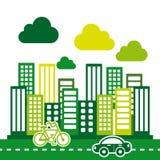 Eco city Royalty Free Stock Photos