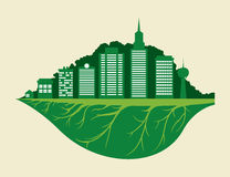Eco city design vector illustration eps10 graphic Stock Image