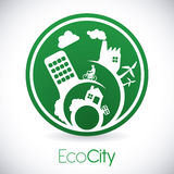 Eco city design vector illustration eps10 graphic Royalty Free Stock Photo