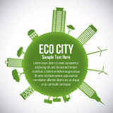 Eco city design vector illustration eps10 graphic Royalty Free Stock Images