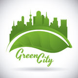 Eco city design vector illustration eps10 graphic Royalty Free Stock Photography