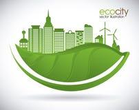 Eco city design vector illustration eps10 graphic Stock Photo