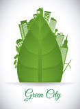 Eco city design vector illustration eps10 graphic Stock Images