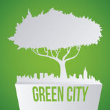 Eco city design vector illustration eps10 graphic Royalty Free Stock Image