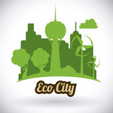 Eco city design vector illustration eps10 graphic Stock Photography