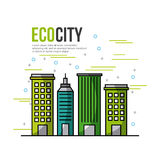 Eco city ecological related icons image Royalty Free Stock Photos