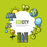 Eco city ecological related icons image Stock Photos