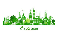Eco city and energy save Stock Images