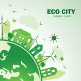 Eco city Stock Photography