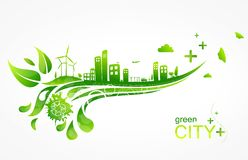 Eco-City. Illustration of an eco-city Stock Images